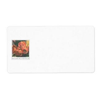 Etiqueta floral del Colección-Nombre Etiqueta De Envío
