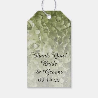 Etiqueta floral del favor del boda del Hydrangea Etiquetas Para Regalos
