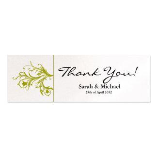 Etiqueta floral del regalo del favor del boda del  tarjetas de negocios