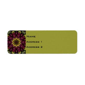 Etiqueta floral del remite etiqueta de remite