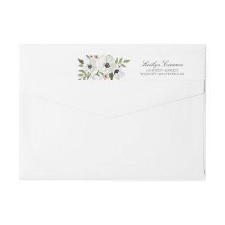 Etiqueta floral preciosa del remite de la etiquetas postales