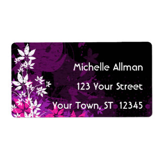Etiqueta floral púrpura de Avery Etiqueta De Envío