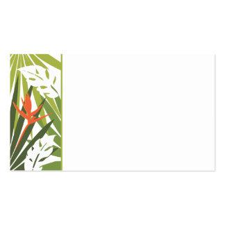 Etiqueta floral tropical anaranjada del boda tarjetas de visita