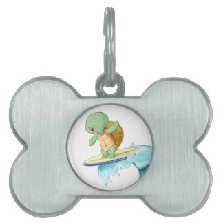 Etiqueta formada hueso lindo del mascota de Kawaii Placa De Nombre De Mascota