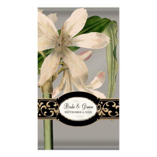 Etiqueta formal del regalo del favor del boda del  tarjeta personal