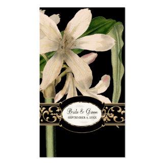 Etiqueta formal del regalo del favor del boda del tarjetas de visita
