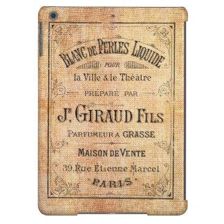 Etiqueta francesa de la belleza del vintage funda para iPad air