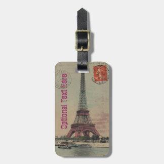 Etiqueta francesa del equipaje del vintage de la etiqueta para equipaje