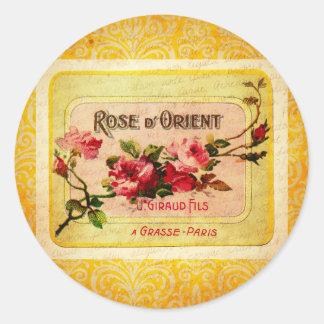 Etiqueta francesa del perfume del vintage