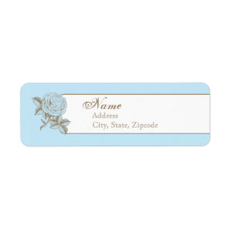 Etiqueta francesa del remite del vintage azul etiqueta de remite