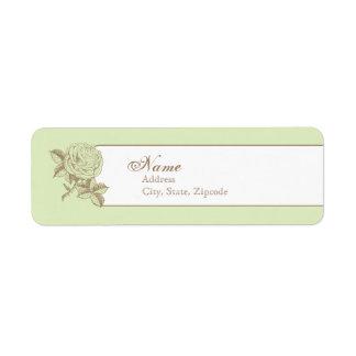 Etiqueta francesa del remite del vintage verde etiqueta de remite