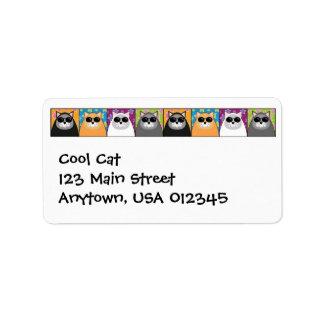 Etiqueta fresca de Avery de la dirección del gato Etiqueta De Dirección