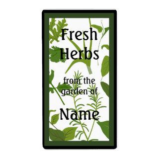 Etiqueta fresca de la comida de las hierbas etiqueta de envío