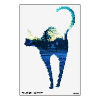 Etiqueta fresca de la pared del gato vinilo adhesivo