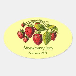 Etiqueta fresca de los cotos de fresa