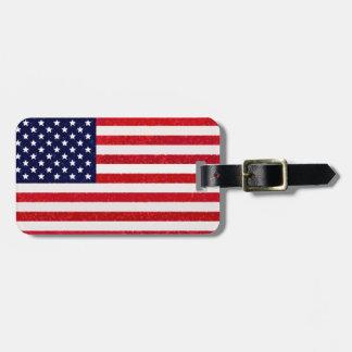 Etiqueta fresca de moda del equipaje de la bandera etiquetas para maletas