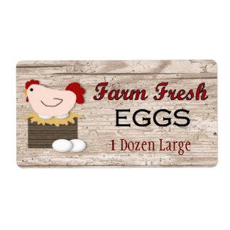 Etiqueta fresca del producto de huevos de la etiquetas de envío