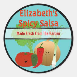 Etiqueta fresca feliz del regalo de la salsa