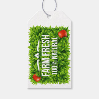 Etiqueta fresca u orgánica de la granja del regalo etiquetas para regalos