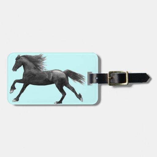 Etiqueta frisia del equipaje del caballo etiquetas de equipaje