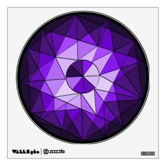 Etiqueta geométrica de la pared del diamante de la vinilo