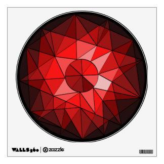 Etiqueta geométrica de la pared del diamante de la vinilo adhesivo