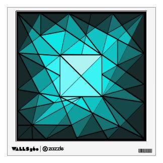Etiqueta geométrica de la pared del diamante de la vinilo decorativo