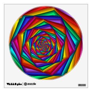 Etiqueta geométrica de la pared del espiral del vinilo adhesivo