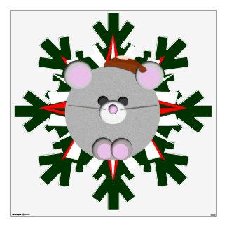 Etiqueta gigante del copo de nieve del ratón de Ch