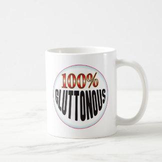 Etiqueta glotona tazas