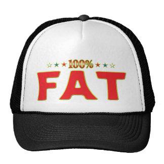 Etiqueta gorda de la estrella gorra