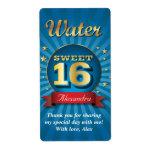 Etiqueta grande de la botella de agua del dulce 16 etiqueta de envío