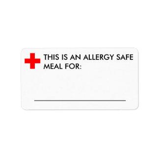 Etiqueta grande de la identificación de la comida etiquetas de dirección