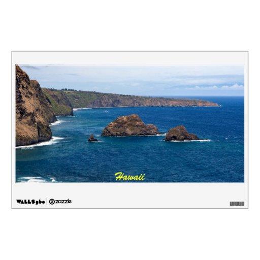 Etiqueta grande de la pared de la costa de Kohala
