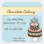 Etiqueta grande de la torta de chocolate