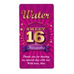 Etiqueta grande del agua del dulce 16 del rosa del etiqueta de envío