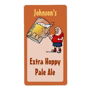 Etiqueta grande divertida de la cerveza del brew c etiqueta de envío