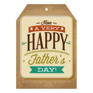 """Etiqueta grande feliz del regalo del día de padre invitación 5"""" x 7"""""""