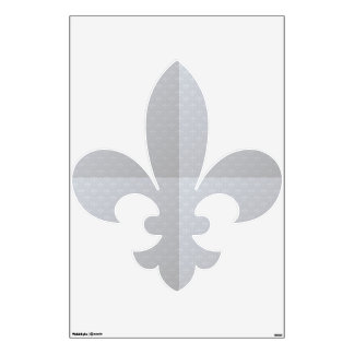 Etiqueta gris de la pared de la flor de lis vinilo decorativo