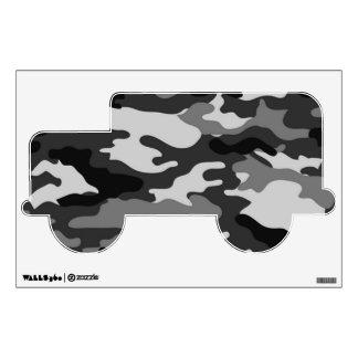 Etiqueta gris de la pared del camuflaje vinilo adhesivo