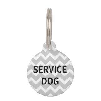 Etiqueta gris del mascota del perro del servicio placa para mascotas