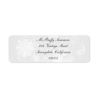 Etiqueta gris del navidad de la nieve del día etiquetas de remite