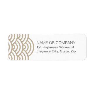 Etiqueta gris del remite de la onda del japonés de etiqueta de remite