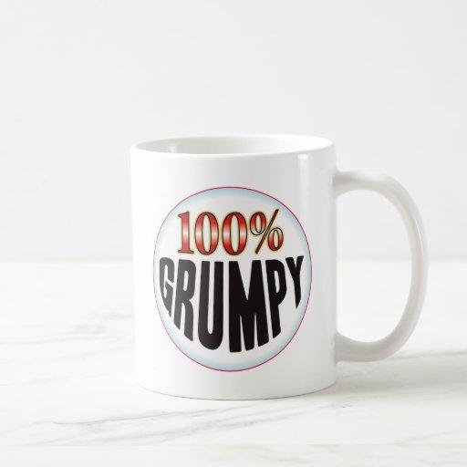 Etiqueta gruñona tazas de café
