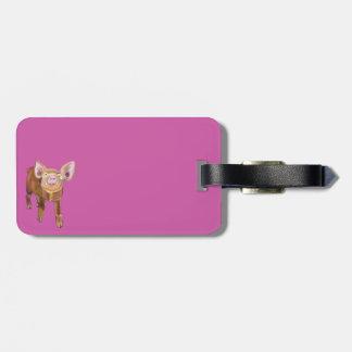 Etiqueta guarra rosada del equipaje etiquetas maletas