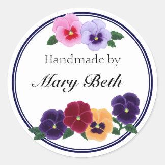 Etiqueta hecha a mano floral personalizada de los