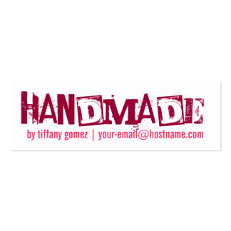 Etiqueta hecha a mano tarjetas de visita mini