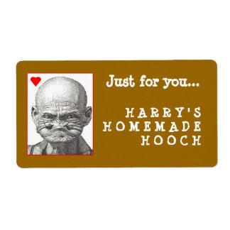 Etiqueta hecha en casa de Hooch Etiquetas De Envío