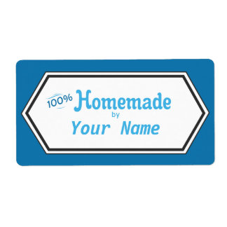 Etiqueta hecha en casa de la comida del 100% etiquetas de envío