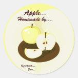 Etiqueta hecha en casa del producto de las manzana